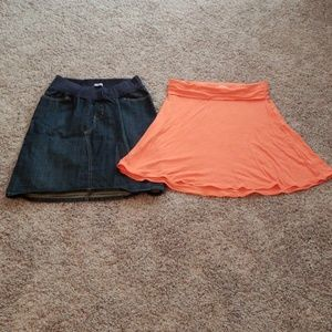 LOT Gap Maternity Skirts Sz 8 and Medium